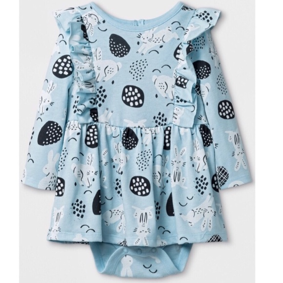 Cat & Jack Other - Cat & Jack Blue Bunny Cotton Dress